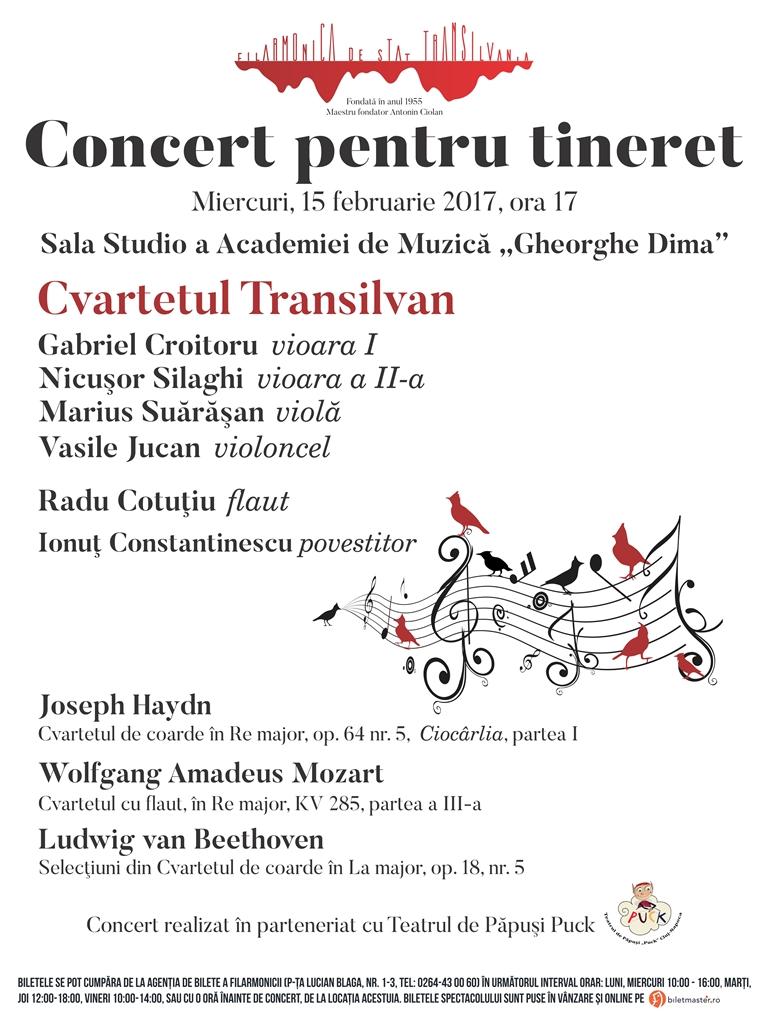 Concert pentru tineret - Cvartetul Transilvan
