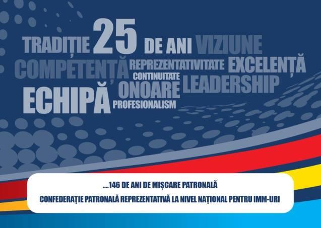 25 de ani de la înființarea Consiliului Național al IMM-urilor