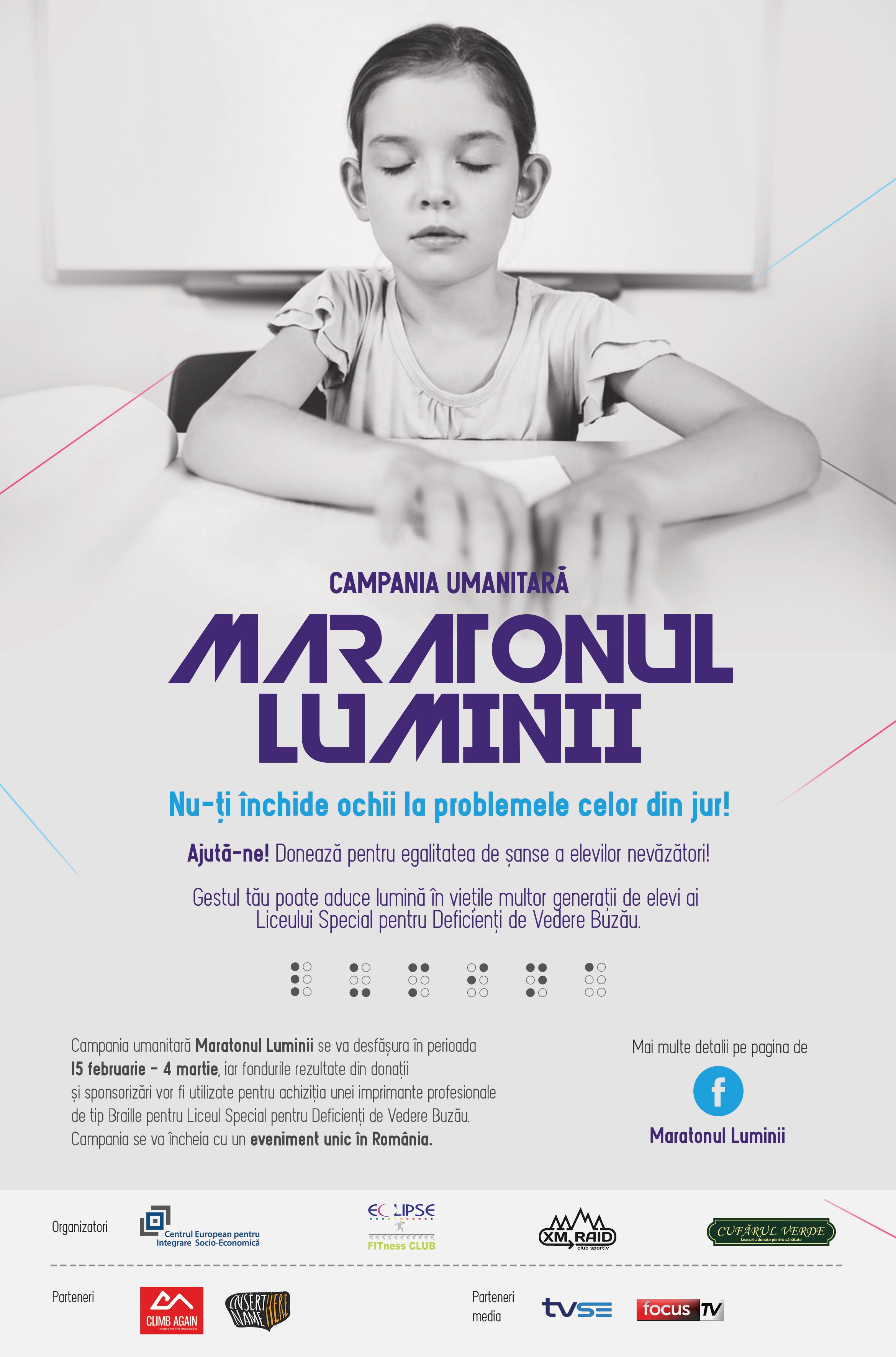 Maratonul Luminii, un eveniment unic în România, va avea loc pe 4 martie, la Buzău