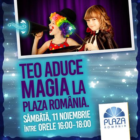 Weekend magic pentru copii la Plaza România