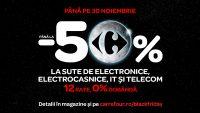 Reduceri de până la 50% de Brack Friday la Carrefour,  toată luna noiembrie!