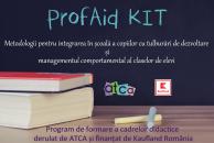 ProfAid Kit, programul pentru integrarea în școli a copiilor cu tulburări de dezvoltare, deschide preselecția pentru 30 de școli din București, Ploiești și Alexandria