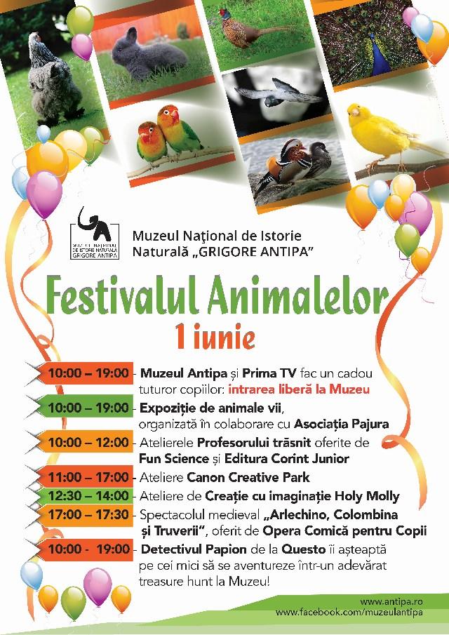 Muzeul Antipa invită copiii la Festivalul Animalelor