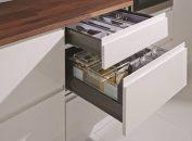 Noile sisteme de sertare Moovit MX de la Häfele, pentru mobilier funcțional, modern și flexibil