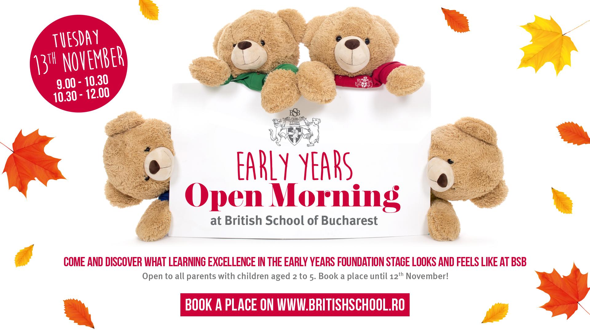 Ziua Porților Deschise dedicată preșcolarilor, la British School of Bucharest