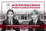 British School of Bucharest oferă elevilor șansa de a câștiga burse pentru anul academic 2019-2020!