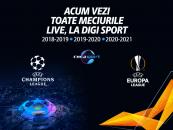 Săptămâna finalelor englezești în Europa League și Champions League, în direct la Digi Sport 1