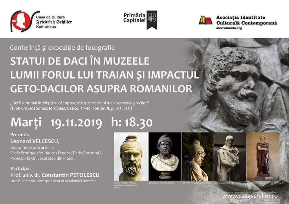 """Conferință- expoziție """"Statui de daci în muzeele lumii"""""""