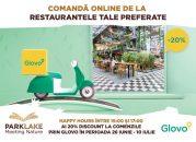 Vrem să fii în siguranță #nu doar acasă. Cu ParkLake și Glovo ai 20% discount la comenzile pentru acasă!