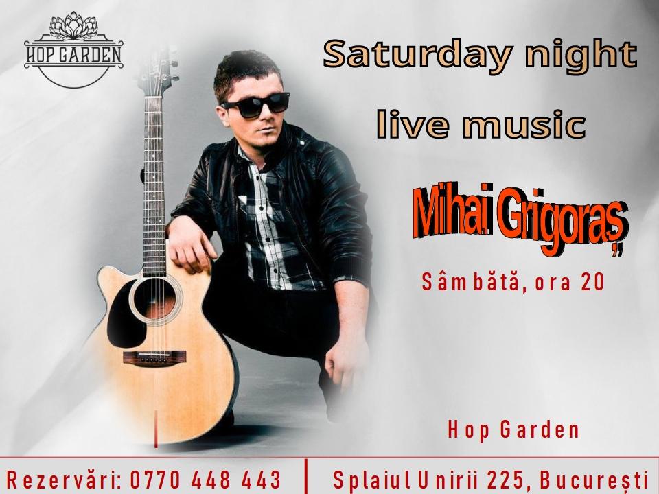 Saturday night live music la Hop Garden