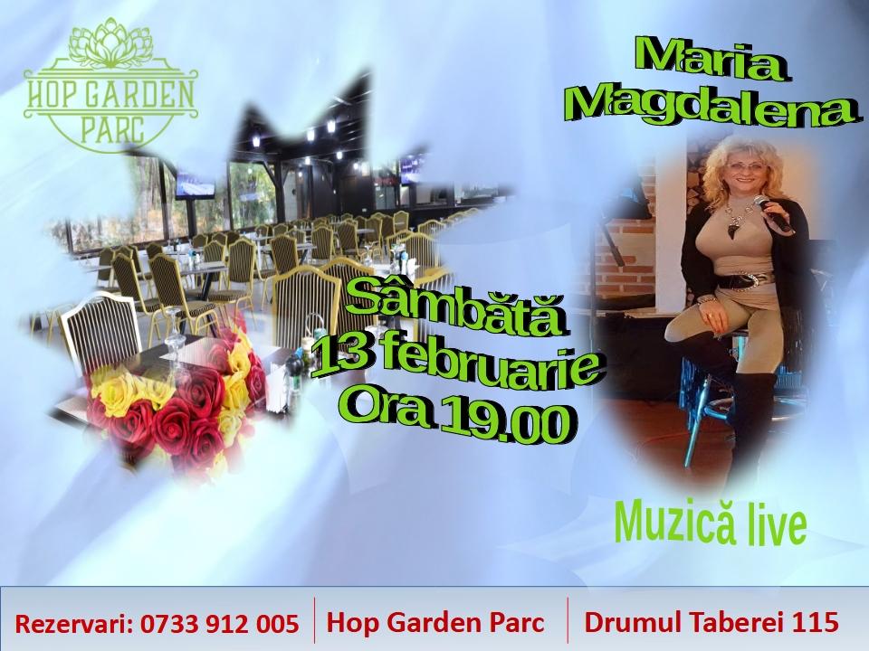 Romantic live music cu Maria Magdalena la Hop Garden Parc