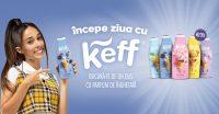 Andra Gogan le propune tinerilor să își înceapă ziua cu Keff și să se bucure de un duș cu parfum de înghețată
