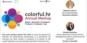 """""""Colorful.hr Annual Meetup"""", seminarii ce vor aborda cele mai importante subiecte cu impact în salarizare și modificările legislative recente, ajunge în 6 orașe din România"""