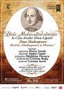 """""""Zilele Multiculturalității"""" de Ziua Shakespeare la Casa Artelor Dinu Lipatti"""