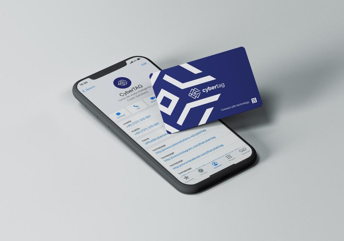 CyberTAG - Cartea de vizita smart cu NFC ce te ajuta sa faci pasul spre viitor