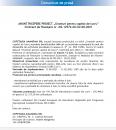 """ANUNȚ ÎNCEPERE PROIECT """"Granturi pentru capital de lucru"""" Contract de finanțare nr. M2-12976 din 02-08-2021"""