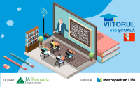 Patru școli din medii dezavantajate au fost dotate cu echipamente smart classroom,  în cadrul proiectului VIITORUL E LA ȘCOALĂ, derulat de JA România și Metropolitan Life